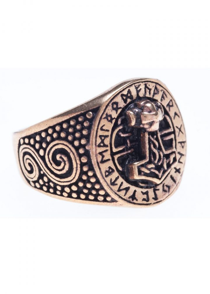 Viking Ring met Thorshamer Brons
