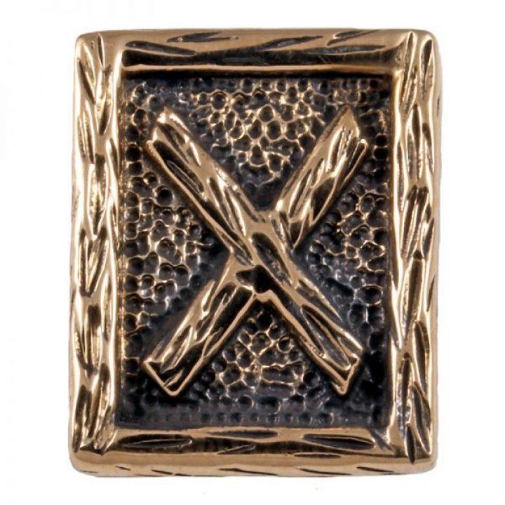 Viking Armband met Ornament Letter G in Brons