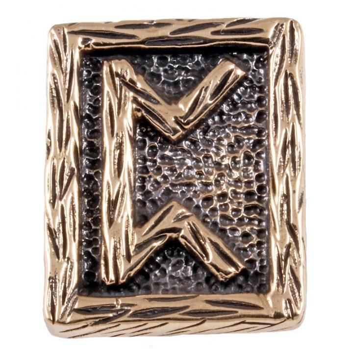 """Wikinger Perthro-Rune, diese Rune steht für die Buchstaben P und heißt im altnordischen """"Fruchtbaum"""" die Rune Steht für Geburt und Wiedergeburt"""
