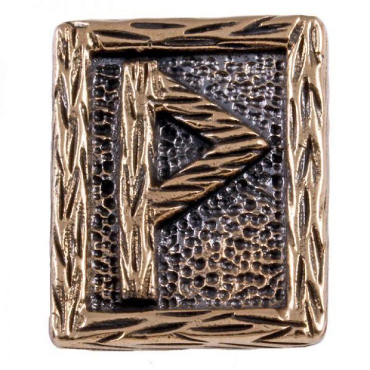 """Wikinger Wunjo-Rune, diese Rune steht für die Buchstaben W und heißt im altnordischen """"Wonne"""" sie steht für Freude, Frieden und Erfolg"""