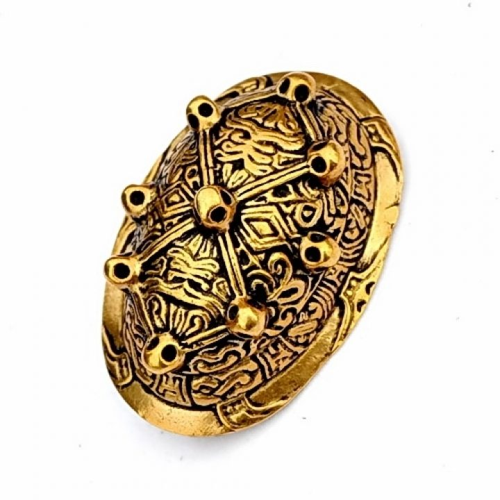 Wikinger Schildkrötenfibel-Ovalfibel Bronze Farbe