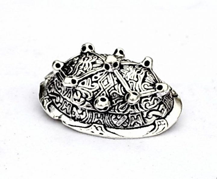 Wikinger Schildkrötenfibel-Ovalfibel Bronze Silber Farbe