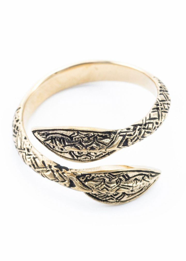 Viking Speerpunten Ring Brons