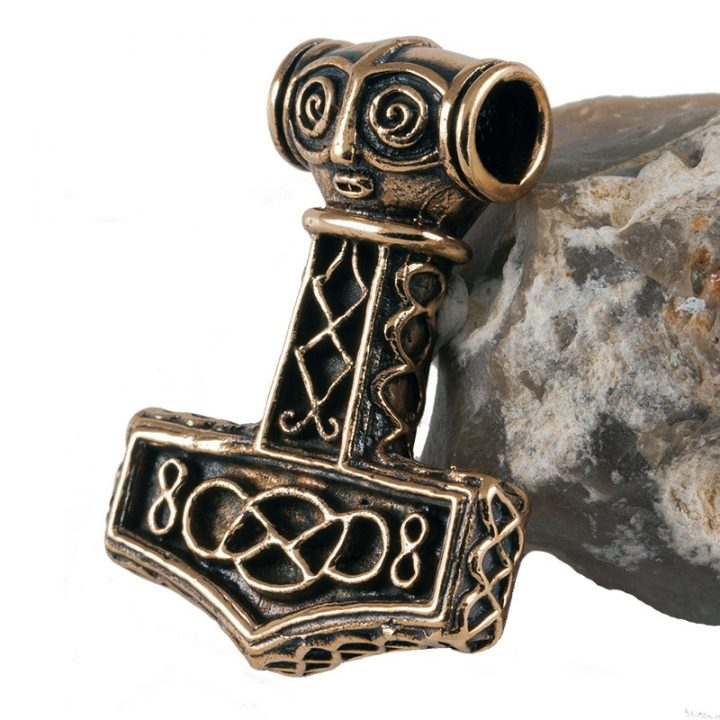 Wikinger Schonenhammer Anhanger Bronze 1000 n.Chr.