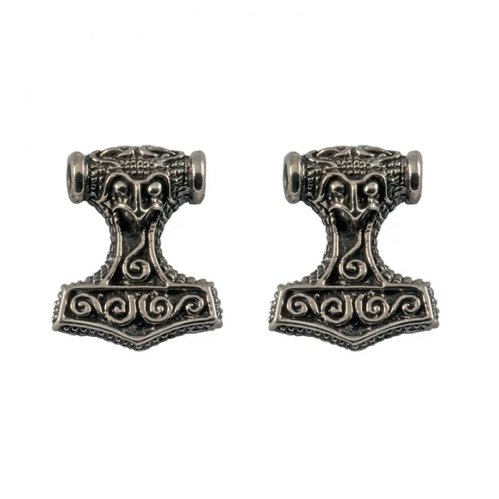 Viking Thorshamer Oorstekers Zilver