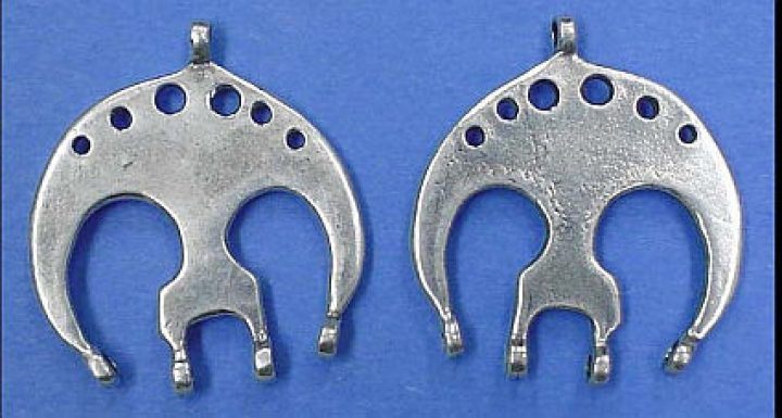 Ovaal Fibula Verdeelhaak Zilver