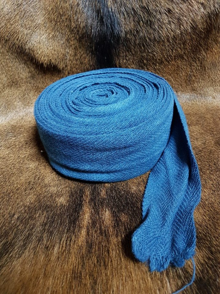 Viking Beenwikkel Visgraad Blauw