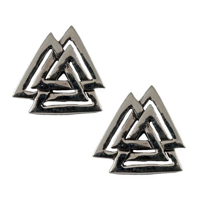 Viking Wodansknoop Oorstekers Zilver