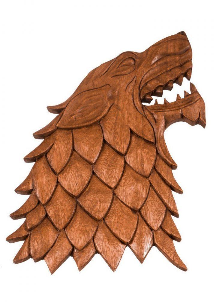 Viking Wolf Fenris Hout