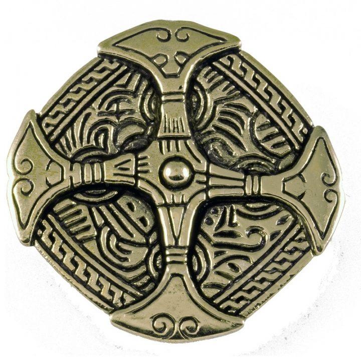 Viking Kleding Fibula Brons