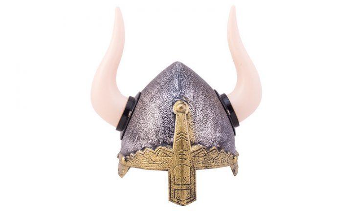 Vikinghelm met Hoorns Kunststof
