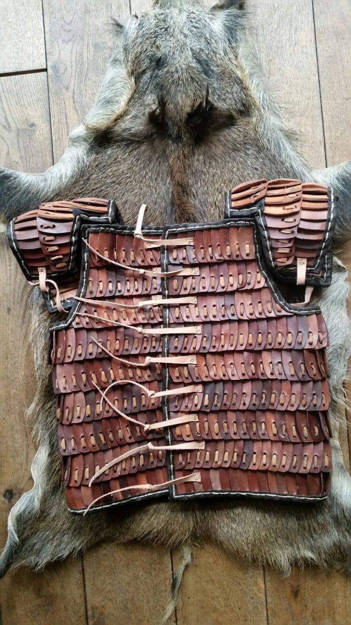 Viking Lamelpantser Leder maat XL