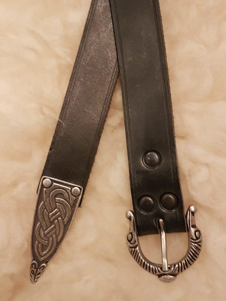 Viking Riem 3 cm breed in Zwart