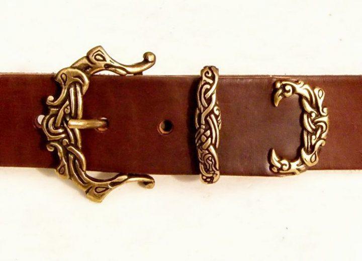 Viking Riem 4 cm breed Zwart