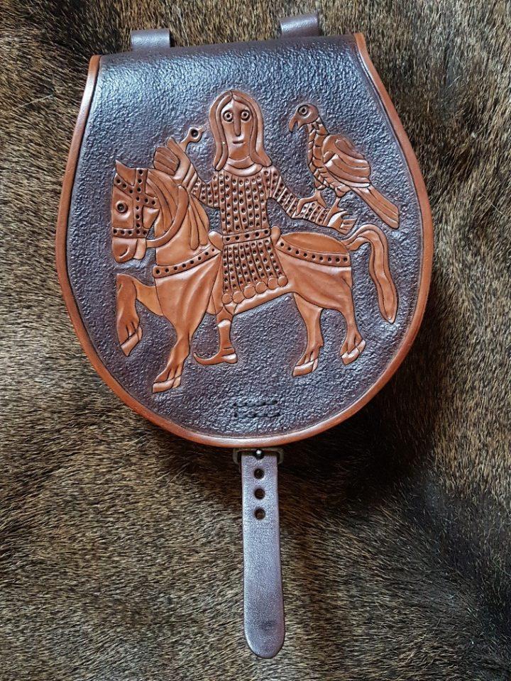 Wikinger Tassche mit Falkner aus Moravia