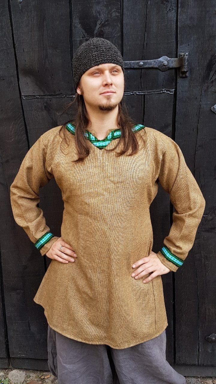 Viking Tuniek van Wol en Linnen maat L