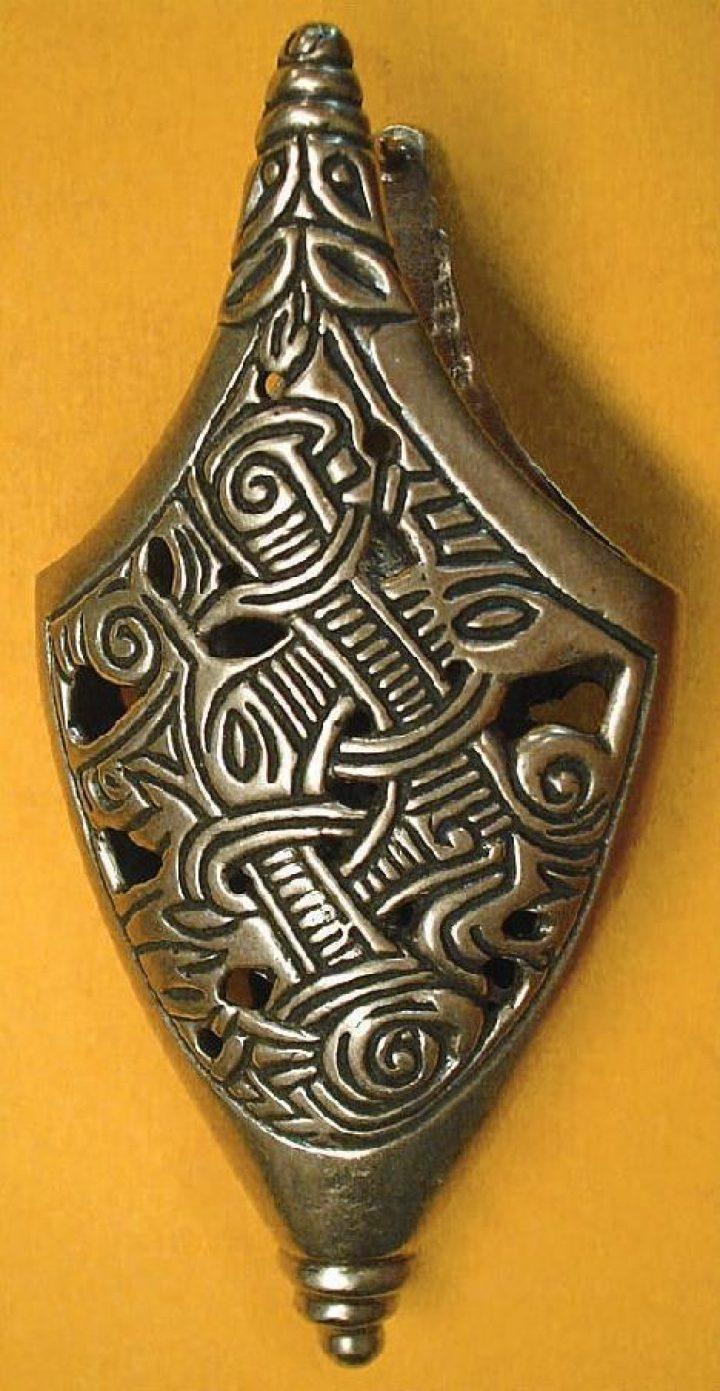 Vikingzwaard Eindstuk brons Gjermundbu, Noorwegen X.A.D.