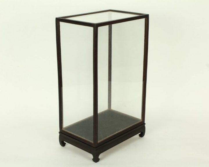 Vitrine Donkerbruin/Zwart 20 x 33 x 46 cm