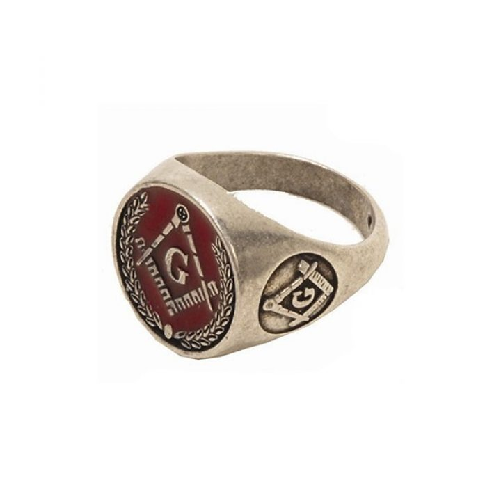 Vrij Metselaars Ring Rood