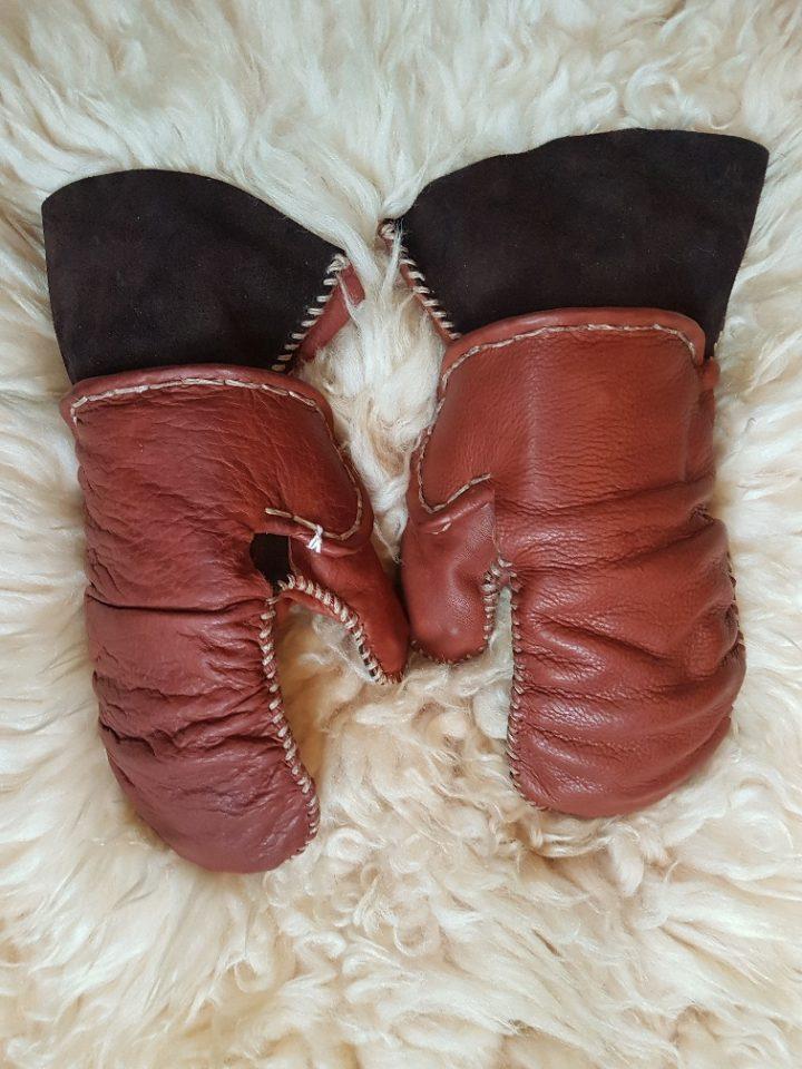 Wikinger Leder Handschuhe