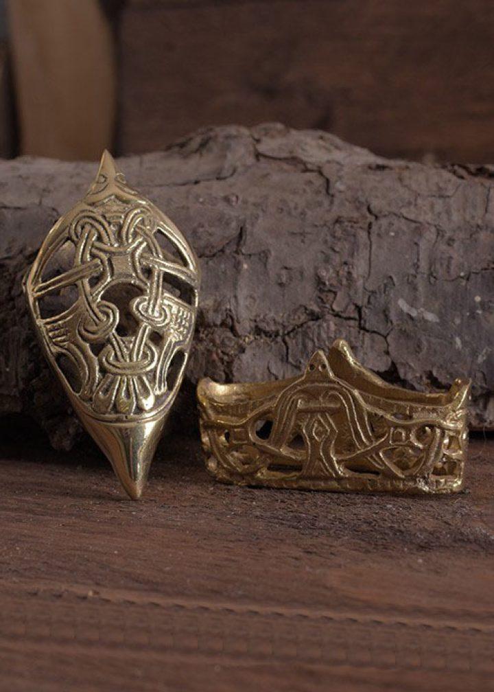 Wikinger Scheide Beschlage Bronze
