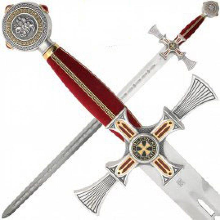 Damast Templer Schwert