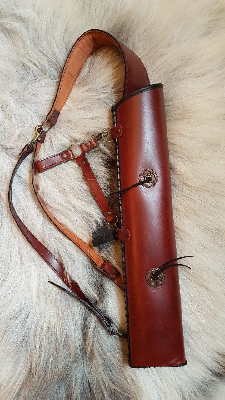Pfeilkocher / Quiver Leder fur am riemen