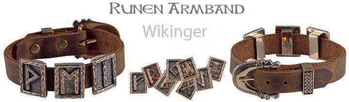 Viking Armband met Runen Stenen
