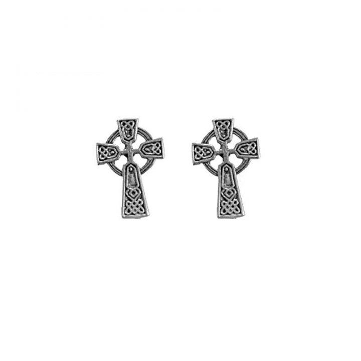 Keltisch Kruis Oorstekers Zilver
