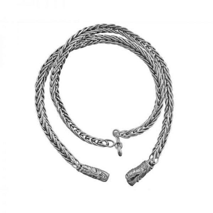 Wikinger Kette 55cm 925er Silber