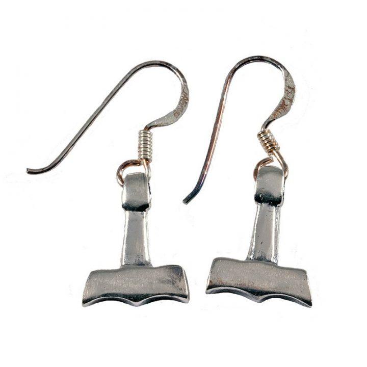Viking Thorshamer Zilver Oorbellen