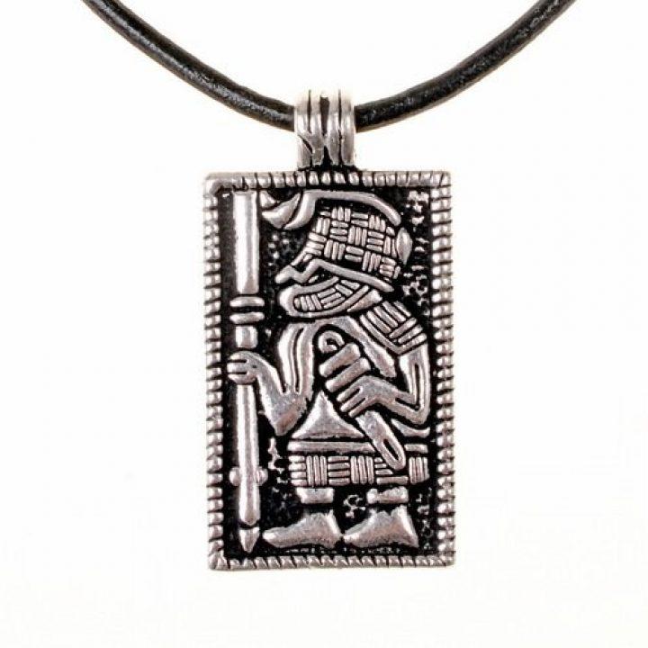 Viking Amulet met een Vendel Krijger Zilver