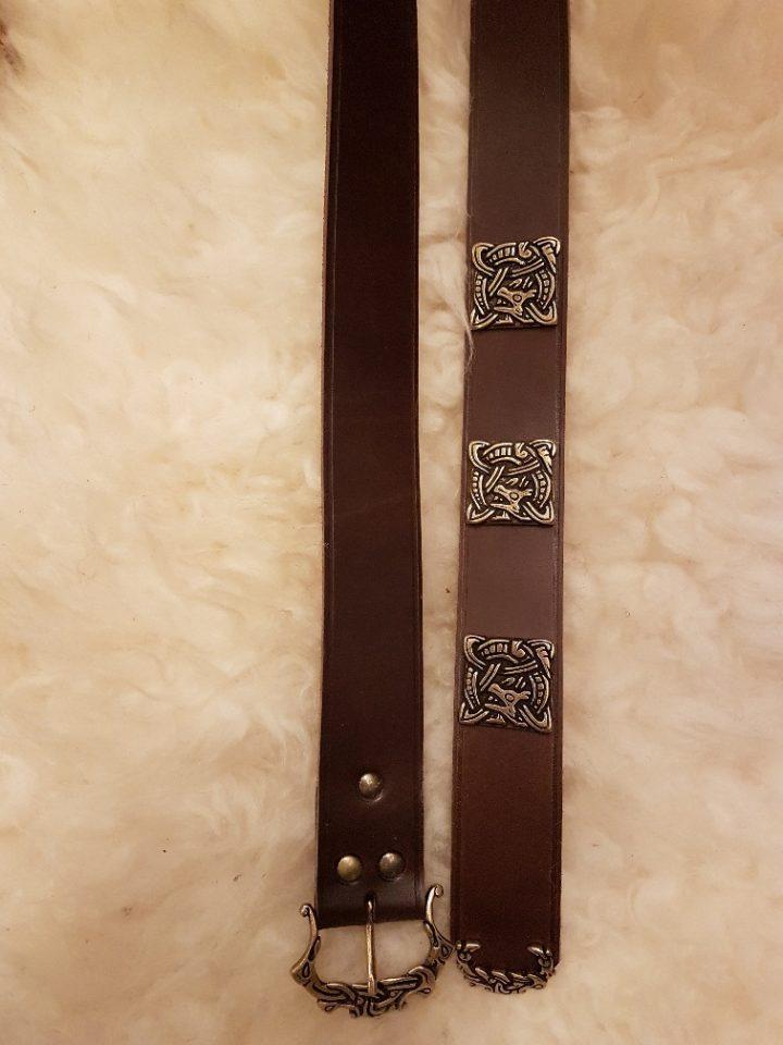 Viking riem in bruin of zwart in 180 cm