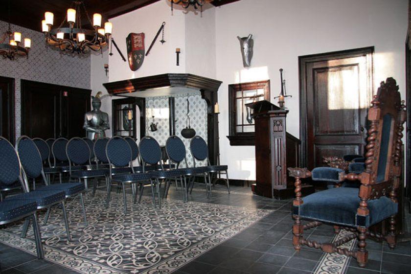 Unsere schönen Rittersaal für bis zu 42 Personen