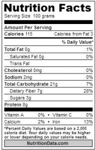 lima beans nutrition