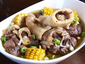 Bulalo Soup. Shank bone beef, marrow beef