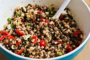 barley and lentils