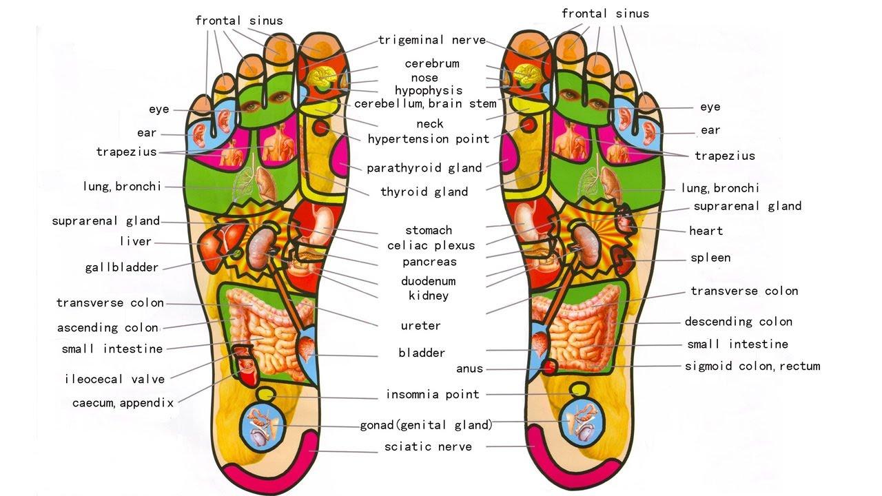 foot massage pressure point