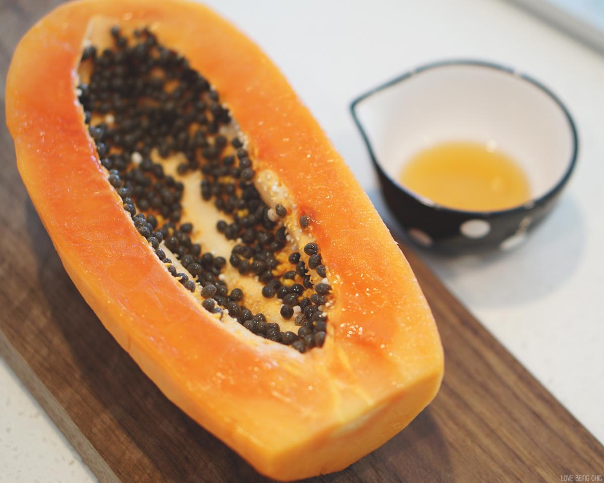 papaya seeds and honey