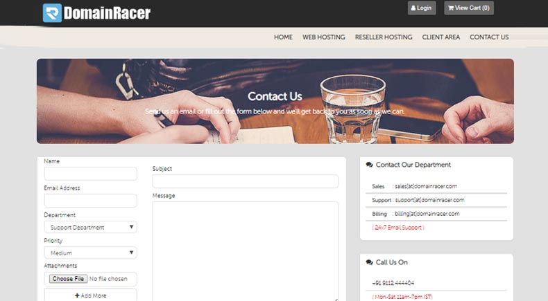 create awesome about page cover information