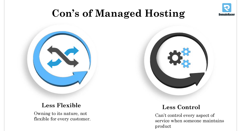 wordpress managed hosting con's
