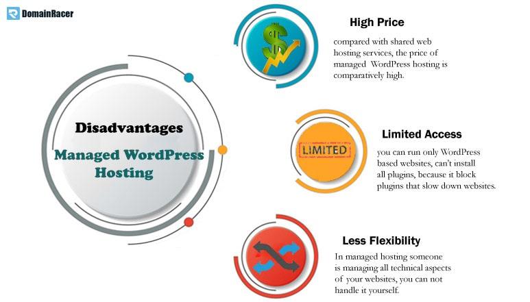 disadvantages of managed wordpress hosting