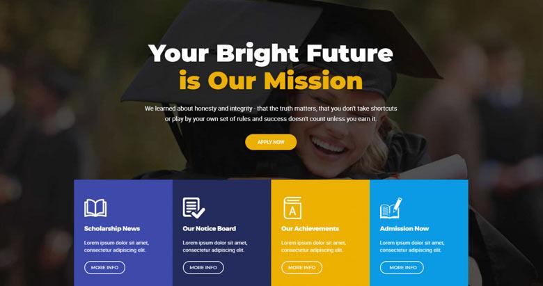 best free website educational theme builder