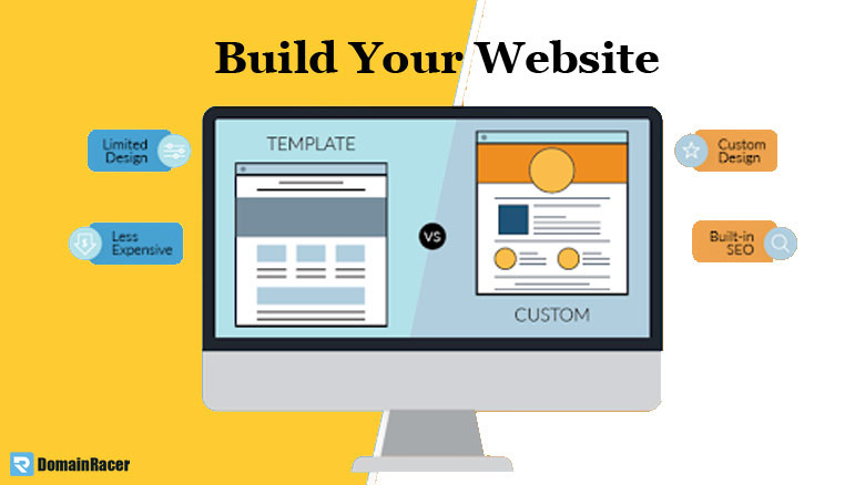 after domain registration build website