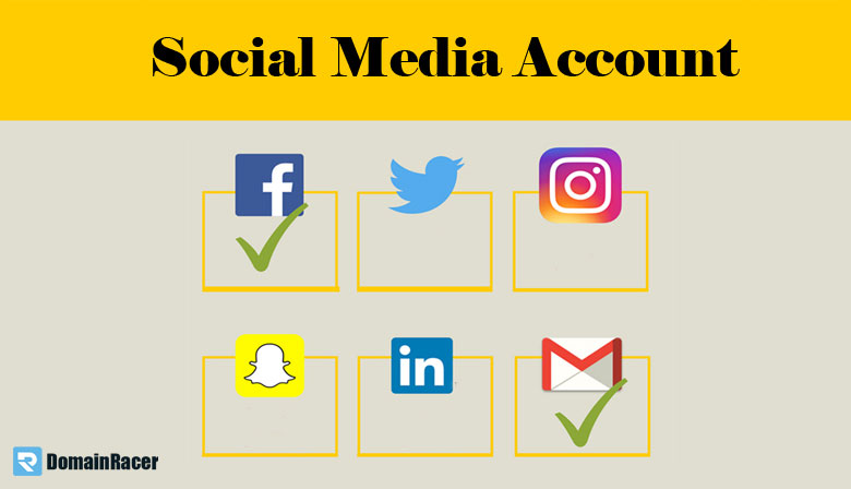 create social media account after domain registration