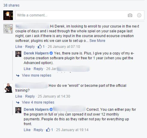 Facebook sponsored post FAQ - blur