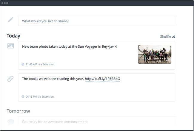 Buffer screenshot - scheduling posts