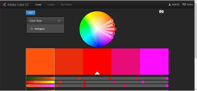 Screenshot - Adobe Color CC