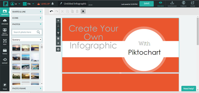 Piktochart screenshot