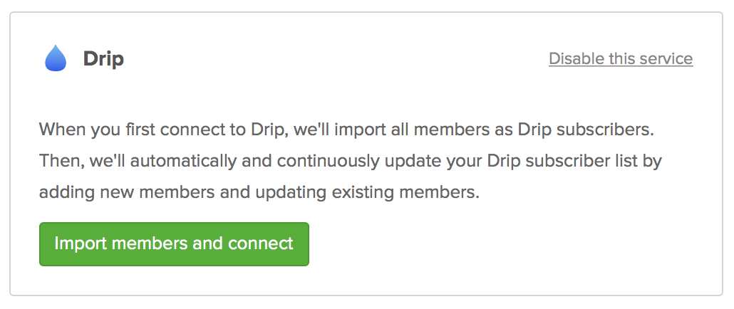 Drip and Memberful Integration Screenshot